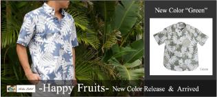 PAIKAJI メンズアロハシャツ(ボタンダウン)/Happy Fruits