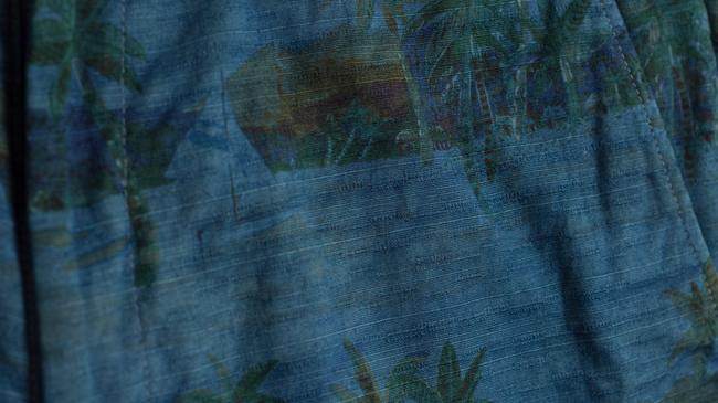 アロハシャツ PAIKAJI ハーフパンツ 藍染め