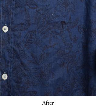 アロハシャツ PAIKAJI  藍染め