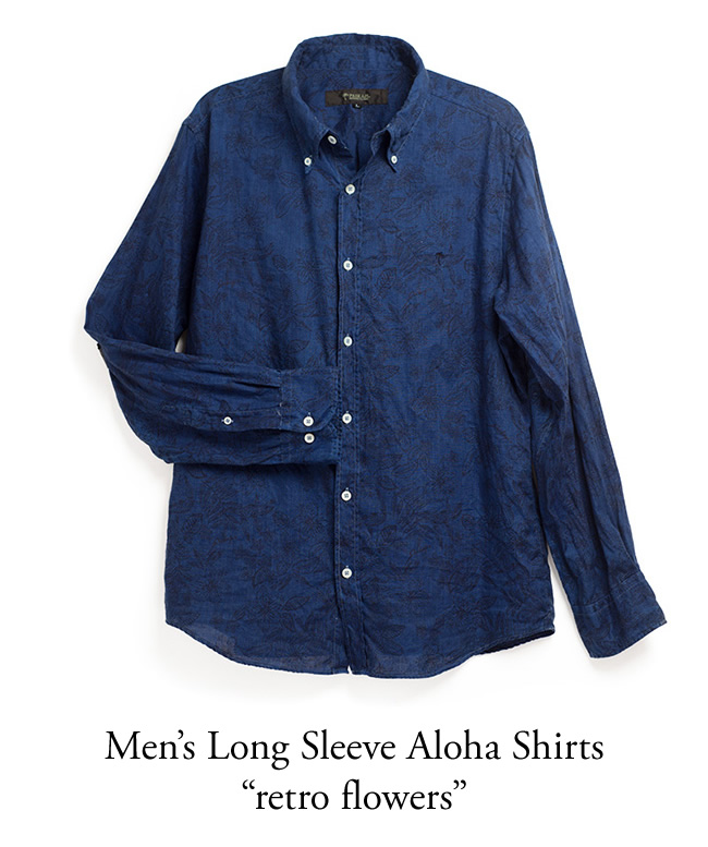 Mens Long Sleeve Aloha Shirts