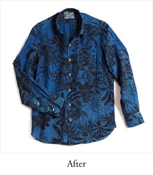 アロハシャツ PAIKAJI ボタンダウン 藍染め