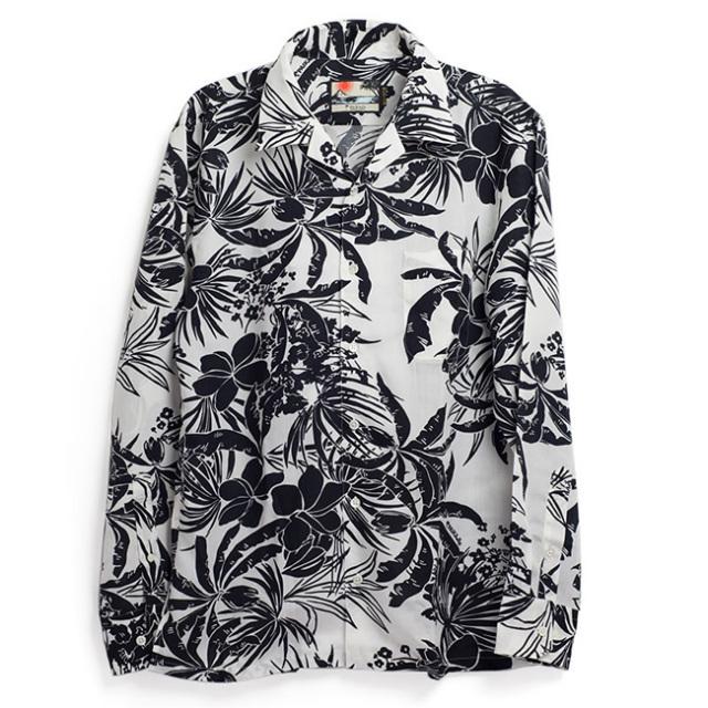 アロハシャツ/メンズオープンカラー長袖シャツ