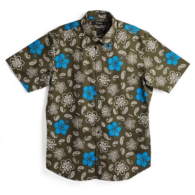 メンズアロハシャツ(ボタンダウン)/Peisly Flowers