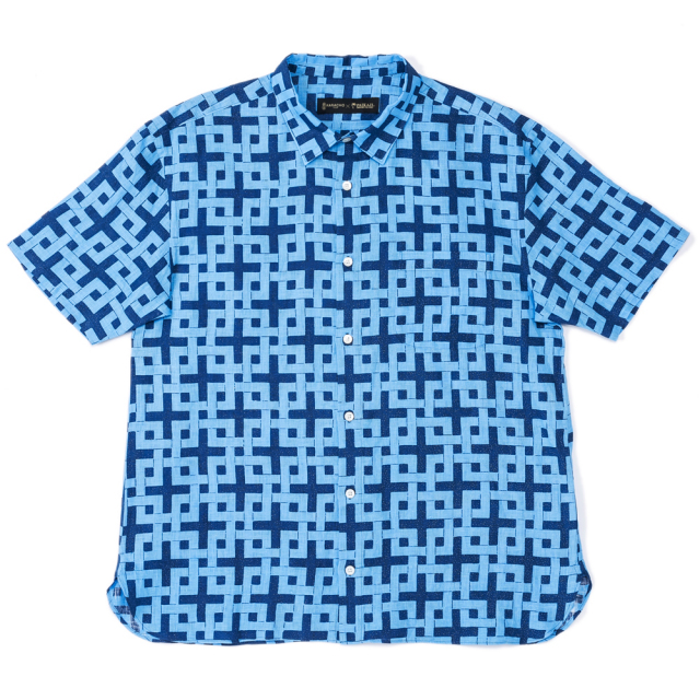 メンズ半袖アロハシャツ/レギュラーカラー/唐長×PAIKAJI    KIRA style